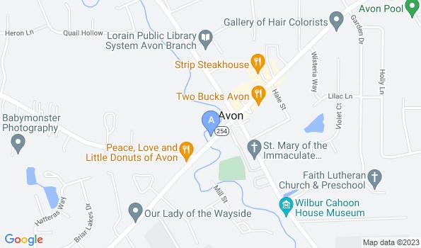 Street map of Avon Animal & Bird Hospital