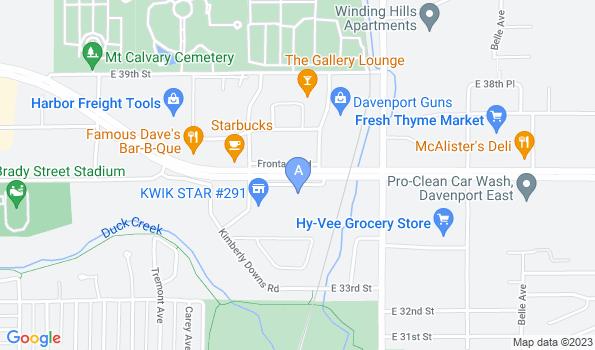 Street map of Kimberly Crest Veterinary Hospital