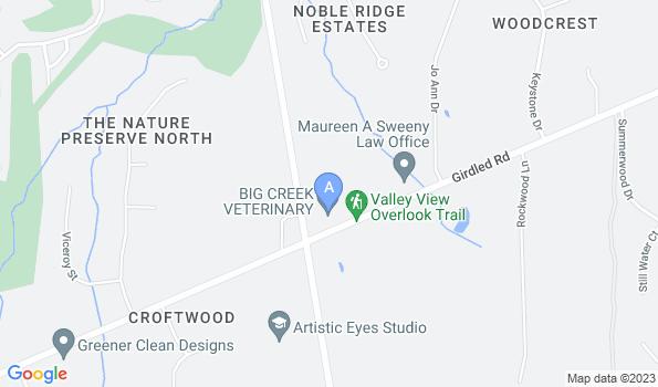 Street map of Big Creek Veterinary Hospital