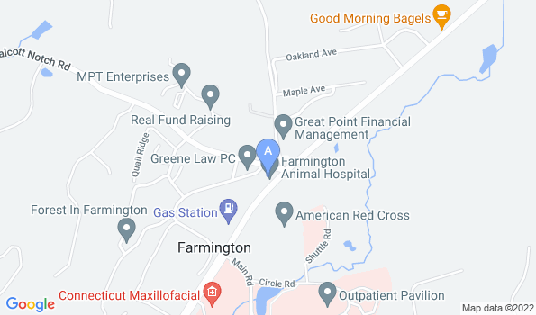 Street map of Farmington Animal Hospital