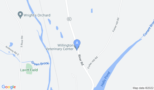 Street map of Willington Veterinary Center