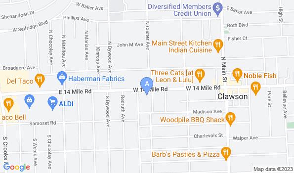 Street map of Kimball Animal Hospital