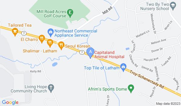 Street map of Capitaland Animal Hospital