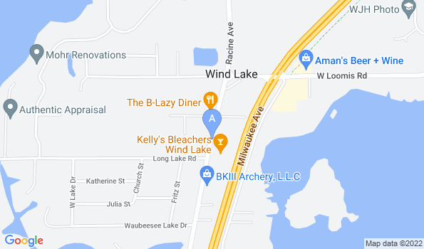 Street map of Wind Lake Animal Hospital