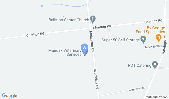 Street map of Mandak Veterinary Services