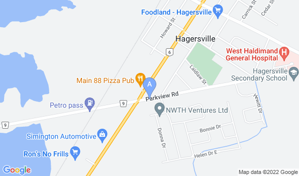 Street map of Hagersville Veterinary Services