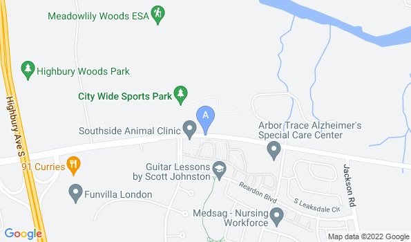 Street map of Southside Animal Clinic