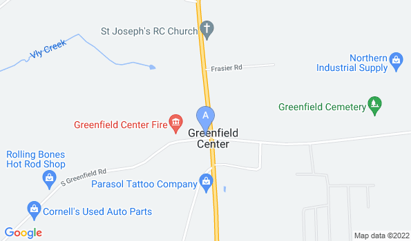 Street map of Greenfield Animal Hospital