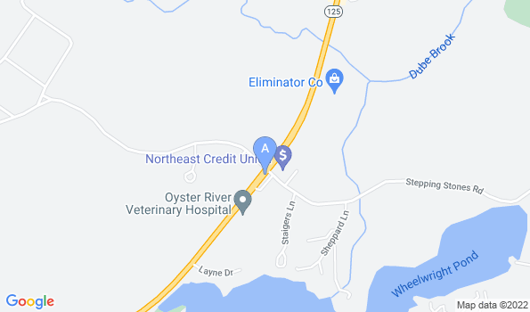 Street map of Oyster River Veterinary Hospital