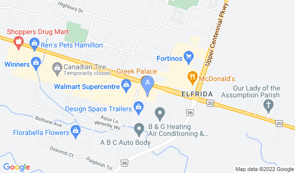 Street map of Stoney Ridge Animal Hospital