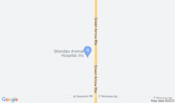 Street map of Sheridan Animal Hospital