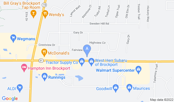 Street map of Brockport Animal Hospital