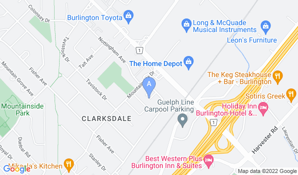 Street map of Mountainside Animal Clinic