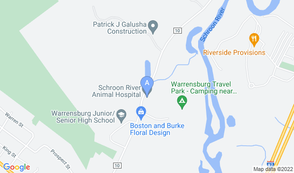 Street map of Schroon River Animal Hospital