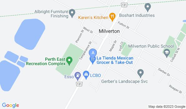 Street map of Pauly Veterinary Clinic