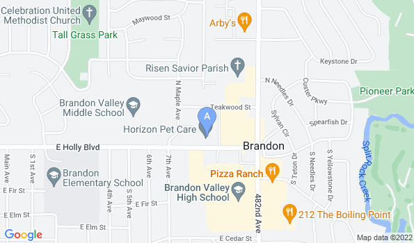 Street map of Horizon Pet Care