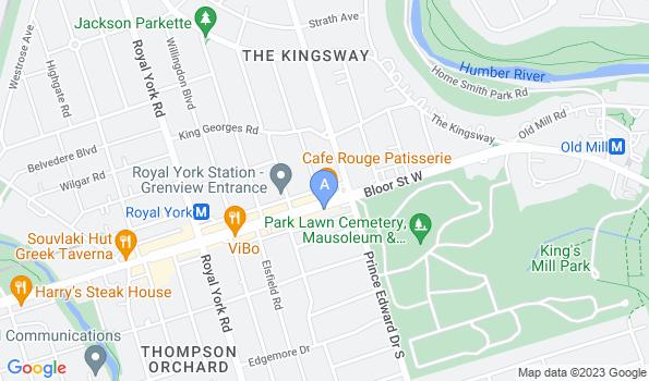 Street map of Prince Edward Animal Clinic