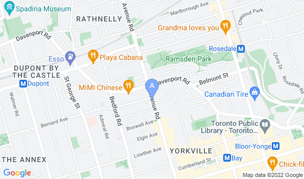 Street map of Yorkville Animal Hospital