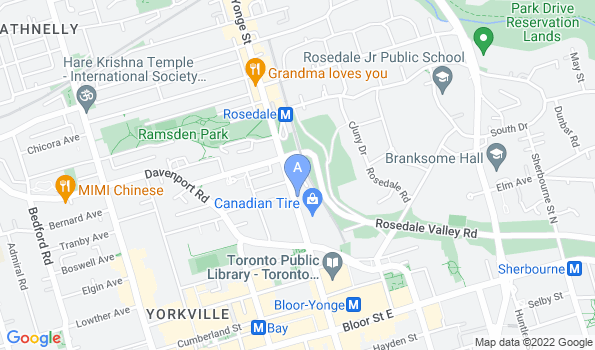 Street map of Yonge-Davenport Pet Hospital