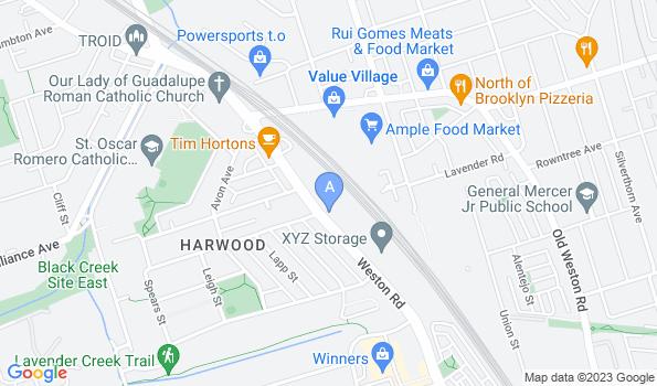 Street map of Animal Hospital of High Park