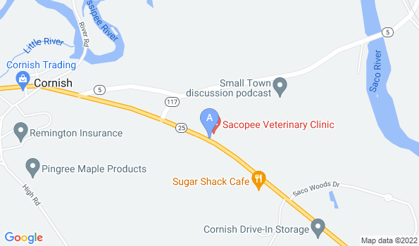 Street map of Sacopee Veterinary Clinic
