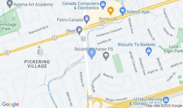 Street map of Riverside Pet Hospital