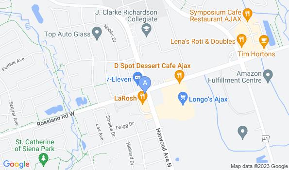 Street map of Harwood Pet Hospital