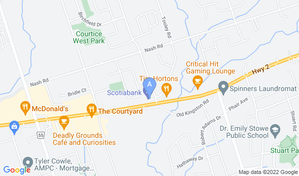 Street map of Courtice Pet Clinic