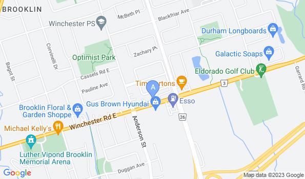 Street map of Brooklin Veterinary Hospital