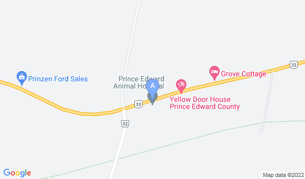 Street map of Prince Edward Animal Hospital