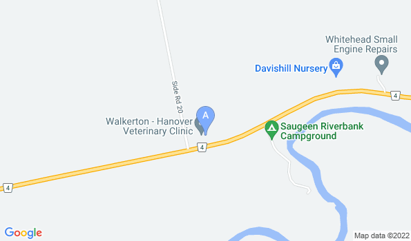 Street map of Walkerton-Hanover Veterinary Clinic