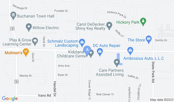 Street map of Crossroads Veterinary Clinic