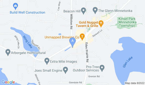 Street map of Glen Lake Animal Hospital