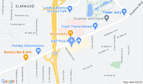 Street map of All Paws Animal Hospital