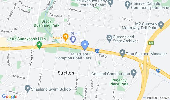 Street map of Compton Road Veterinary Surgery