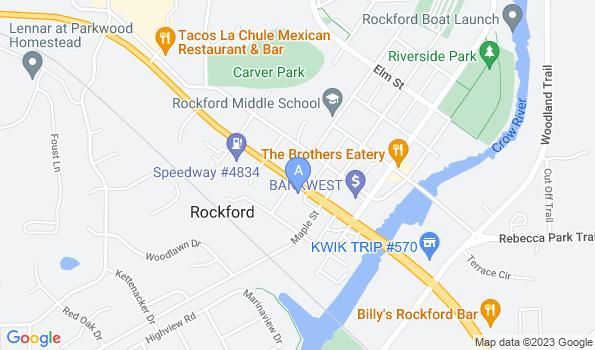 Street map of Rockford Veterinary Clinic