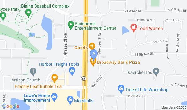 Street map of Blaine Area Pet Hospital
