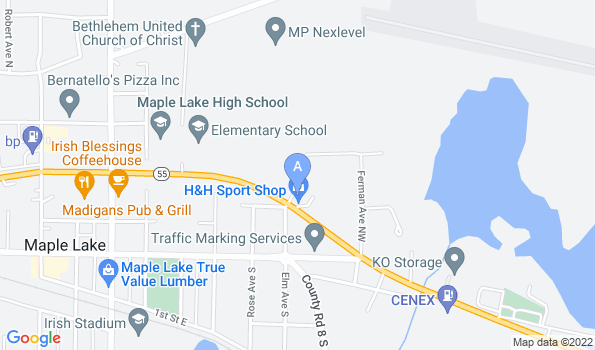 Street map of Maple Lake Vet Clinic