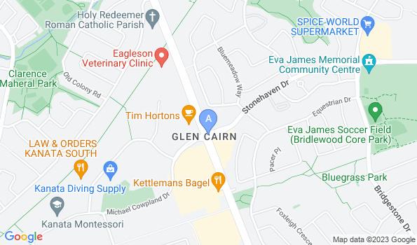 Street map of Bridlewood Animal Hospital