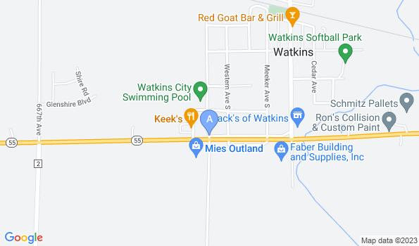 Street map of Watkins Vet Clinic