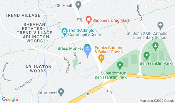 Street map of Nepean Animal Hospital