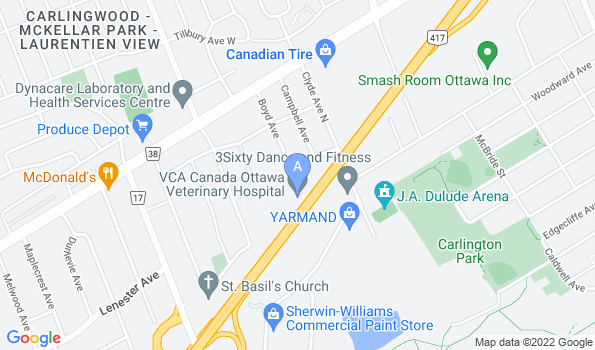 Street map of Ottawa Veterinary Hospital – Emerg Clinic