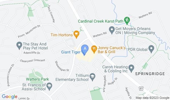 Street map of Crown Pointe Animal Hospital