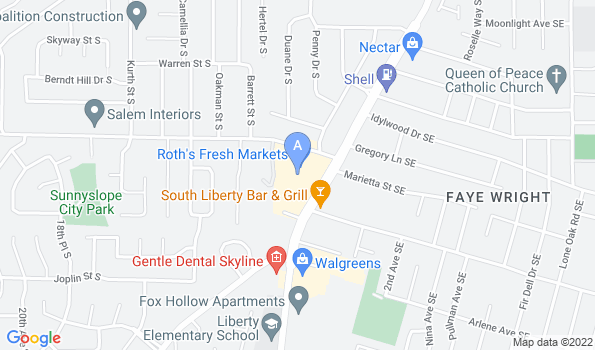 Street map of Liberty Animal Hospital