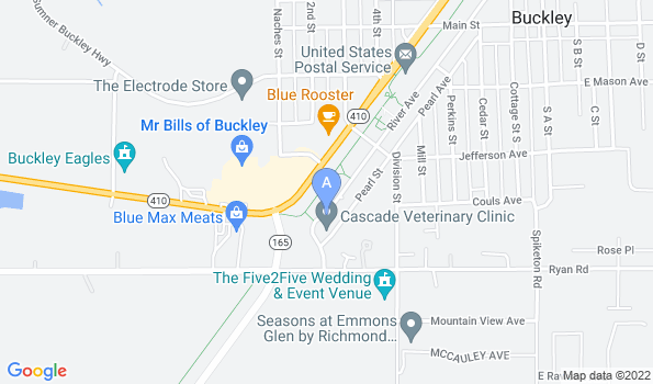 Street map of Cascade Veterinary Clinic