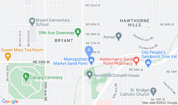 Street map of Hawthorne Hills Veterinary Hospital
