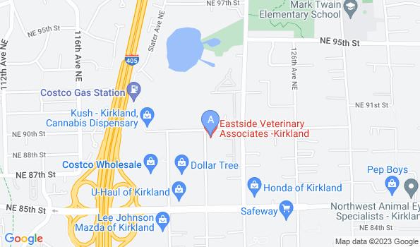Street map of Eastside Veterinary Associates – Kirkland