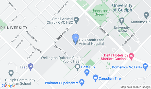 Street map of OVC Smith Lane Animal Hospital