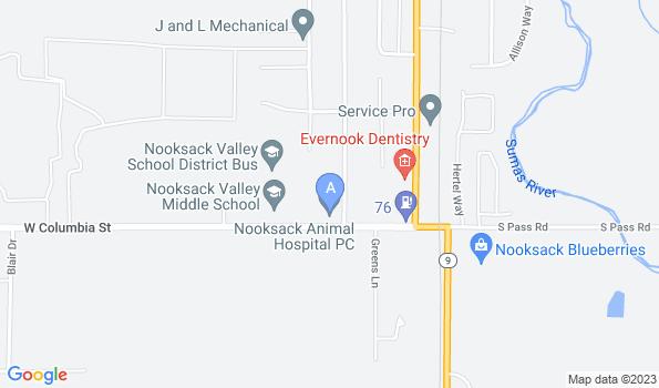 Street map of Nooksack Animal Hospital