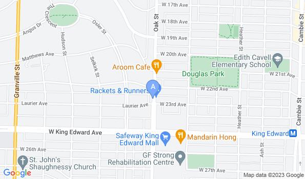 Street map of Oak Animal Hospital